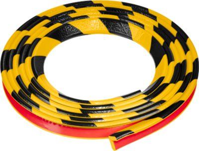 Hoekbeschermingsprofiel type E, 5 m. rol, geel/zwart