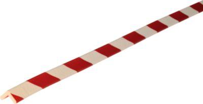 Hoekbeschermingsprofiel type E, 5m-rol, wit/rood