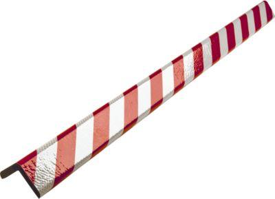 Hoekbeschermingsprofiel type H+, in stukken van 1 m, rood/wit reflecterend