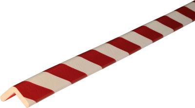 Hoekbeschermingsprofiel type H, in stukken van 1 m, wit/rood