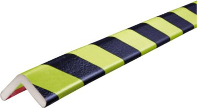 Hoekbeschermingsprofielen type H, 1 m stuk, geel/zwart, daglichtgevend, 1 m.