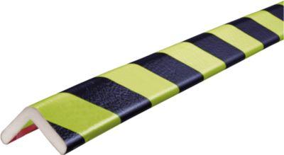 Hoekbeschermingsprofielen type H, 5 m rol, geel/zwart, daglichtgevend, 5 m rol, daglichtgevend