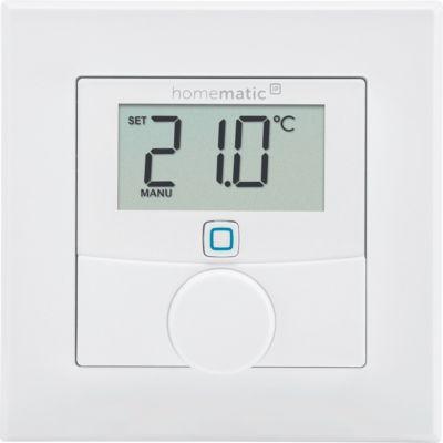 Homematic IP Wandthermostat mit Luftfeuchtigkeitssensor, 3 Heizprofile, Smart Home
