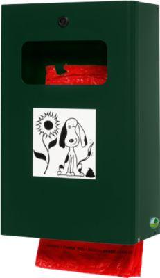 Hondenpoep-zakdispenser, afsluitbaar, mosgroen