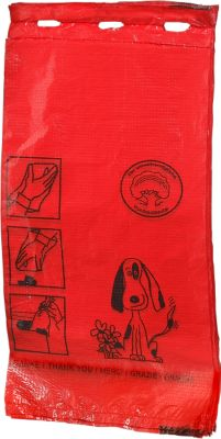 Hondenpoep zakjes, rood, 1000 stuks