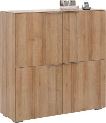 Hoogtebord Amy, 4 deuren met elk 1 plank, afsluitbaar, B 1126 x 1140 mm.