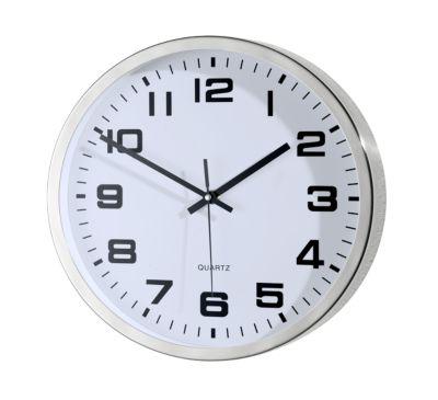 Horloge LE GROS SUCCES en inox, avec cadran à chiffres, Ø 300 mm, pour l'intérieur, à quartz