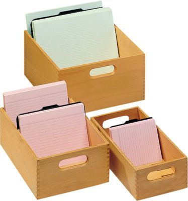 Houten kaartenbak, A5, 500-900 kaarten