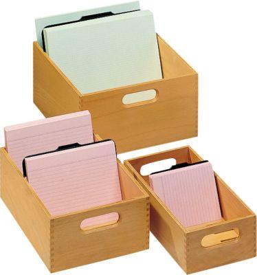 Houten kaartenbak, A7, 500-900 kaarten