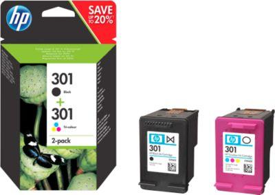 HP 301 - 2 Pakken zwart, kleuren N9J72AE