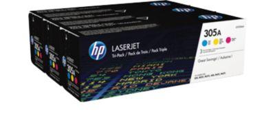 HP 305A Multipack LaserJet CE305X inktcassette cyan/magenta/geel