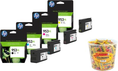 HP Druckpatrone Sparpaket 4 Stück, 953XL + HARIBO Goldbären, GRATIS