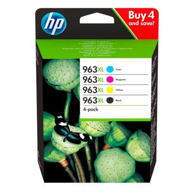 HP Druckpatrone Sparpaket 4 Stück, 963XL, schwarz, cyan, magenta, gelb
