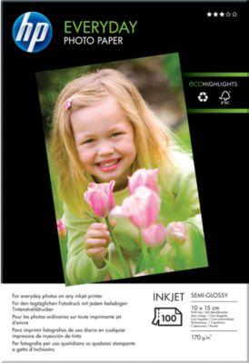 HP Fotopapier Everyday, glänzend, 10 x 15 cm, 100 Blatt