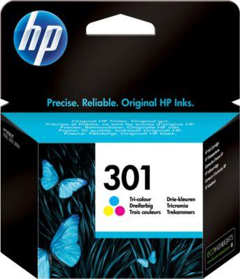 HP inkjet HP CH562EE|301 Printkop cartridge color, 165 Paginas, Inhoud 3 ml voor DeskJet 1050/1055/300...