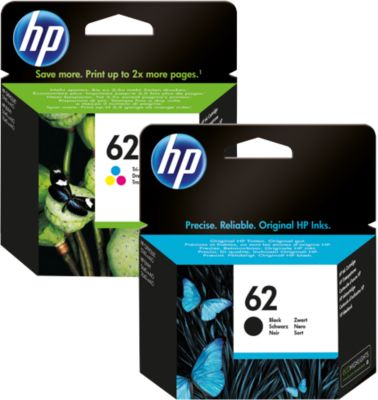 HP inktpatroon nr. 62, N9J71AE, zwart + Tri-Color