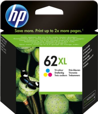 HP inktpatroon nr. 62XL, C2P07AE, tricolor