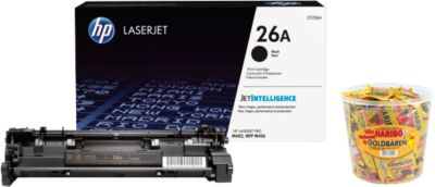 HP LaserJet CF226A Tonerkassette schwarz + HARIBO Goldbären, GRATIS