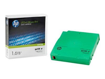 HP LTO4- Ultrium Datenkassetten, grün, 800 GB, 1,6 TB bei 2:1 Komprimierung