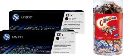 HP Sparset 2 Color LaserJet 131X Druckkassette schwarz + Celebrations, GRATIS
