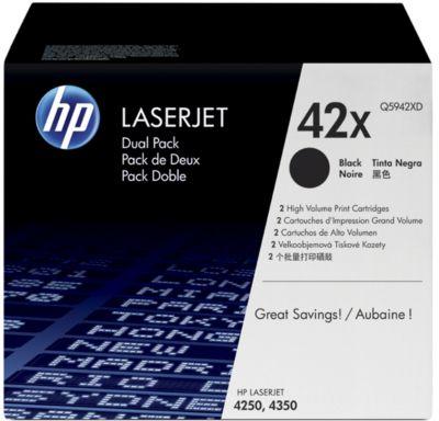 HP toner HP Q5942XD|42 X Tonercartridge zwart twin pack, 20.000 Paginas/5%, Inhoud VE=2