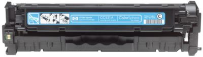 HP tonercartridge Color LaserJet CC531A, cyaan
