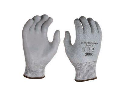 HPPE snijbescherming gebreide handschoen Dondra, met PU microschuimcoating, 12 paar, maat L