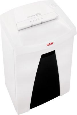 HSM® -hakselaar serie SECURIO B22, strooksnijding 5,8 mm, 17-19 vellen, P2, start/stop van de wagen, 33 l ma