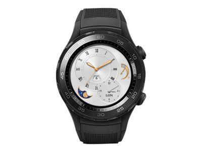Huawei Watch 2 Sports - schwarz Kohlefaser - intelligente Uhr mit Sportband - 4 GB
