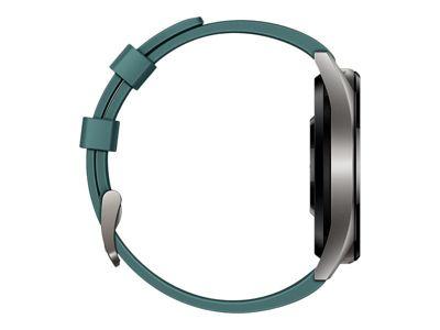 Huawei Watch GT Active - titangrauer Edelstahl - intelligente Uhr mit Riemen - dunkelgrün - 128 MB
