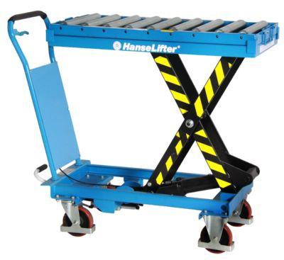 Hubtisch 500 kg mit abnehmbarem Rolleraufsatz