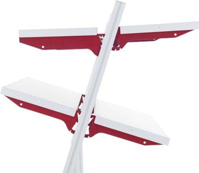 Hüdig+Rocholz Ablageboden System Flex, Typ B, 1000 x 300 mm, mit Trägerarmen
