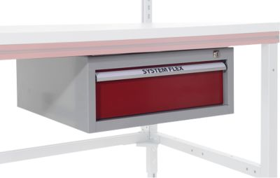 Hüdig+Rocholz Einzel-Hängeschublade für Packtisch System Flex, verschließbar