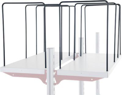 Hüdig+Rocholz Fachteiler für Ablageboden System Flex, 4-er, Bügelweite 300 mm