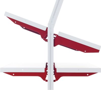 Hüdig+Rocholz Flex-plankensysteem, type A, 1000 x 300 mm, inclusief steunpoten.
