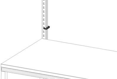 Hüdig+Rocholz-kabelklemsysteem Flex, voor de bevestiging van kabels aan het HR-profiel.