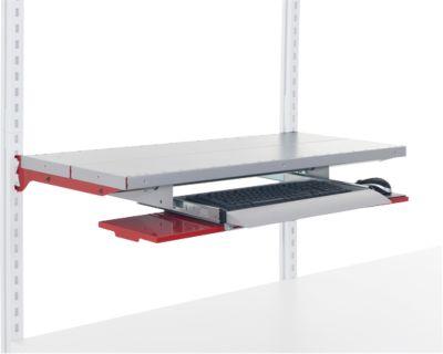Hüdig+Rocholz-toetsenbordlade met uittrekbare muishouder Systeem Flex, B 800 mm