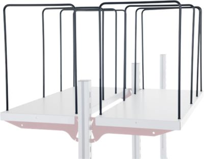 Hüdig+Rocholz verdeler voor rekkensysteem Flex, 4-persoons, breedte 300 mm.