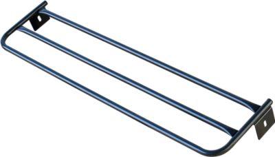 Hutablage für Umkleidebank, Stahl, 2000 mm lang, anthrazit