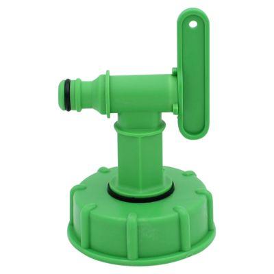 IBC-Adapter DN50/2 Zoll, mit kleinem Hahn (Klicksystem)