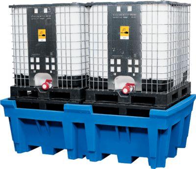 IBC- en KTC-station voor 2 containers, met geïntegreerd PE-stelvlak