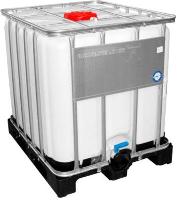 IBC tank, waterreservoir voor gevaarlijke stoffen op kunststofpallet, 1000 liter, B 1000 x H 1163 mm