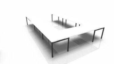 IDEA modulair vergadertafel, U-vorm, 16 zitplaatsen, B 3200 x D 4800 mm, wit/antraciet