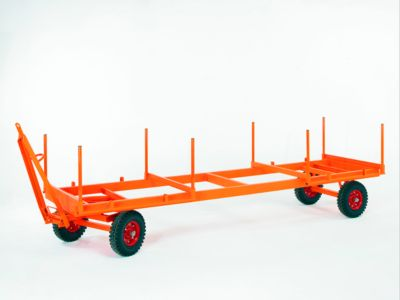Industrieanhänger, 2-Achs-Drehschemel-Lenkung, Luftreifen, Tragkraft 3000 kg, 4000 x 1050 mm