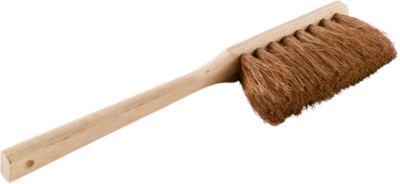 Industriële houten handveger met haren in kokoshout
