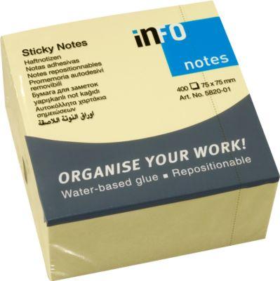INFO Haftnotizen, 75 mm x 75 mm, 1 x 400 Blatt