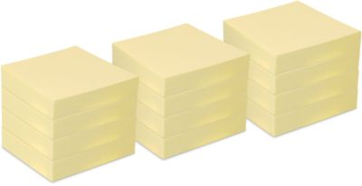 INFO Haftnotizen, recycling Papier, 50 mm x 40 mm, 12 Stück, gelb
