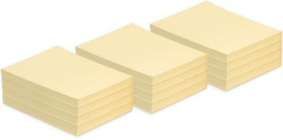 INFO notes, gerecycleerd papier, geel, 125 mm x 75 mm , pak van 12 stuks