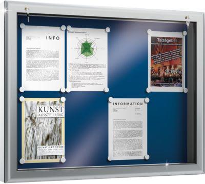 Infobord, achterwand blauw, 1025 x 800 x 90 mm