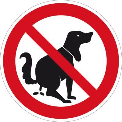 Informatiebord Hier geen hondentoilet, ø 400 mm